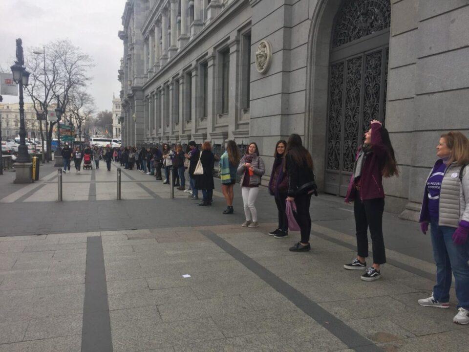 Cadena feminista de MadridLa Revolución Feminista de 2020 no ha hecho más que empezar