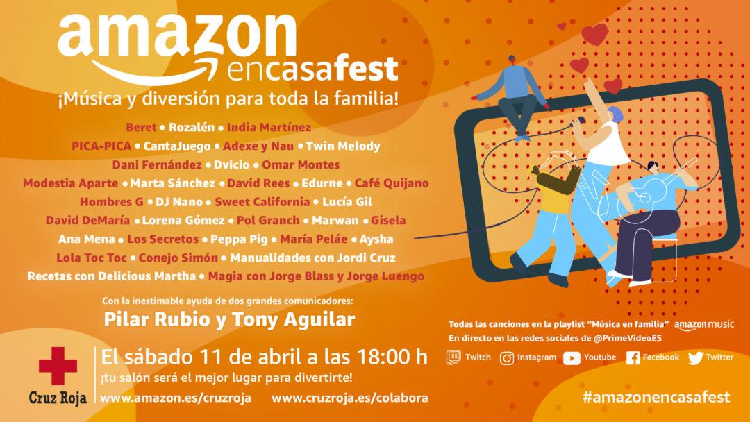 COVID-19El #AmazonEnCasaFest, un festival familiar benéfico, contará con Rozalén, Beret, Dvicio y muchos más