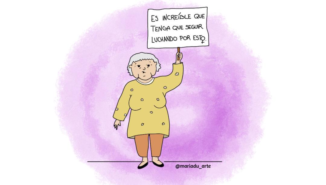 Ilustración María Duarte violencia de género