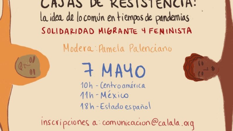 Coronavirus 10 mujeres migrantes conversan este jueves con Pamela Palenciano sobre su realidad en la crisis del COVID-19