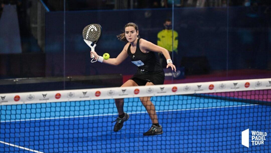 Ariana Sánchez Fallada jugando la final del Menorca Master Final 2020