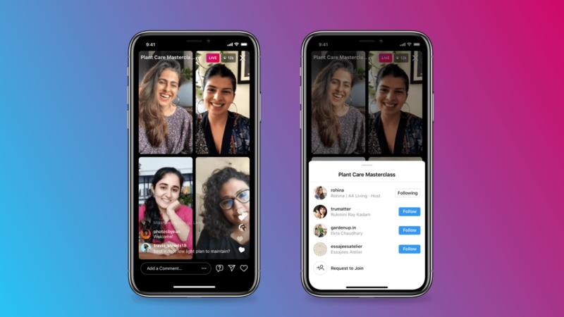 Instagram permitirá hacer directos de hasta 4 personas