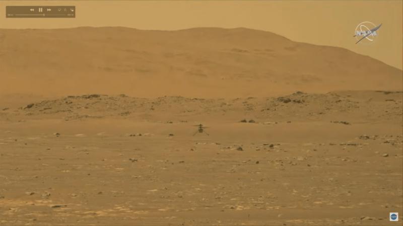 🚀 Vuelo propulsado 🚀El helicóptero Ingenuity de la NASA logra el primer vuelo propulsado en Marte